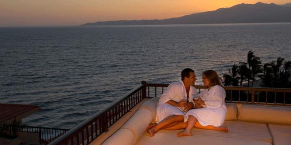Beautiful couple enjoying great time at Villa del Palmar