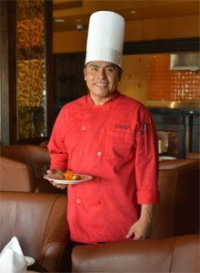 Chef Gerardo Garcia Martinez at Villa del Palmar at the Islands of Loreto